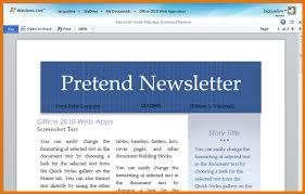 Microsoft Word 2010 Newsletter Templates Beginner Using Templates In