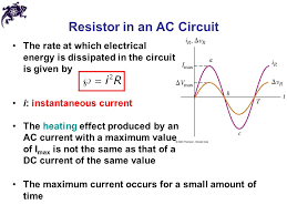 alternating current circuit. 4 resistor in an ac circuit alternating current c