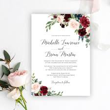 Wedding Invitation Templates Downloads Editable Wedding Invitation Templates Free Download Floral