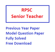 Rpsc 2nd Grade Teacher Previous Question Paper Download Old Papers