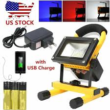 Outdoor Yard Lights 60w Portable Rechargeable Led Flood Work