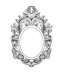 mirror frame drawing. Victorian Mirror Frame Drawing D