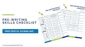 Handwriting Progression Chart Pre Writing Skills Checklist For Kids Free Printable Download