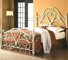 white metal queen bed. Wonderful Queen White Steel Bed Frame Iron Queen Metal Headboard  At  And White Metal Queen Bed Y