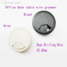2018 whole 50mm computer table cable plastic grommet office desk wire hole cover protector grommet decoration furniture drilling hole cap from roberr