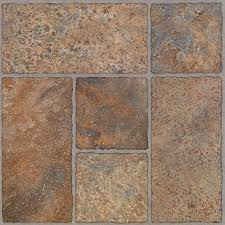 Peel And Stick Kitchen Floor Tile Trafficmaster Bodden Bay 12 In X 12 In Terra Cotta Peel And