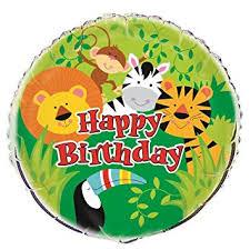 "Unique <b>Party</b> 52167 - 18"" Foil <b>Animal Jungle Party Balloon</b>: Amazon ..."
