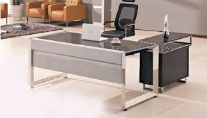 contemporary glass office desk. Interior, Modern Glass Top Office Table Design With Wooden Side Buy Best Desk 2: Contemporary D