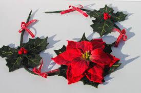 Girlande Weihnachtsstern Gefilzt Für Den Weihnachtsbaum Oder