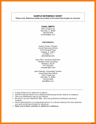Resume Reference Sheet Template Resume Reference Sheet References List Template For How To 12
