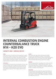 h40 h50 evo linde heavy truck