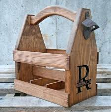 wooden beer caddy wood plans diy canada