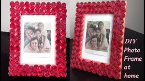 how to make photo frame at home cardboard photo frame idea