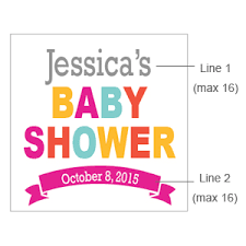 Baby Shower Sticker Baby Boy Personalized Sticker FavorBaby Shower Tags And Labels