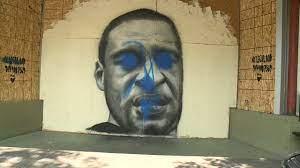 Jenna Rice repaint George Floyd mural ...