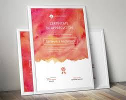 Corporate Certificate Template Watercolor Corporate Certificate Meylah