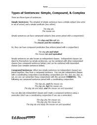 Complex Compound Sentence Worksheet Worksheets for all | Download ...