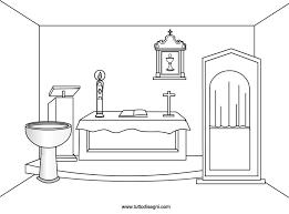 Chiesa Oggetti Sacri Da Colorare Tuttodisegnicom