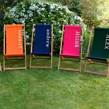 personalised plain deckchair garden furniture