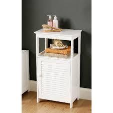 White Bathroom Floor Cabinet With Shelf 1600901 Home Decor