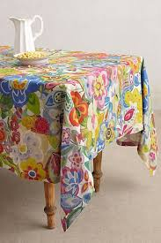 Cimbrone Tablecloth #anthropologie - oooh, how I <b>love</b> this fabric ...