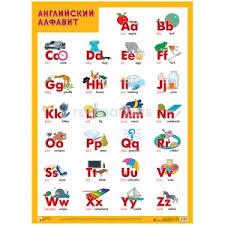 <b>Плакат Мозаика</b>-<b>Синтез</b> Английский алфавит в Рязани 🥇