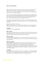 How To Write A Cover Letter Email Cover How To Write Cover Letter In