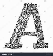 herbarium font type herbal vector letters letter a can be used as