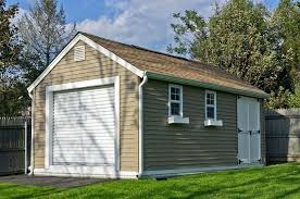 O Storage Shed With Garage Door Manufactured Sheds Custom Built  Permanent