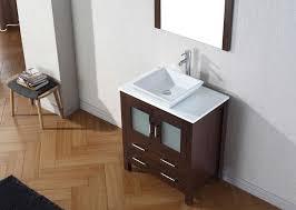 virtu usa 30 dior single sink bathroom vanity set in espresso with pure white marble