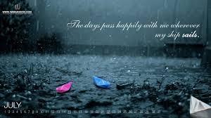 love rainy days wallpapers july 2017 with quote