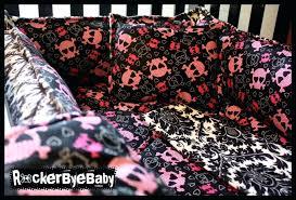 skull crib bedding good looking baby nursery room decor with punk baby crib bedding engaging baby