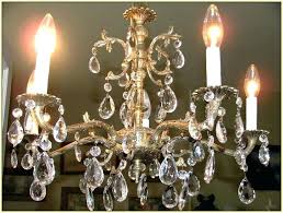 antique brass chandelier spa value vintage with crystals chain uk
