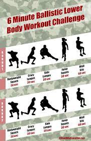 6 minute ballistic lower body workout challenge