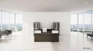 group contemporary office. Corner Reception Desk / Modular Glass Laminate - MODERN + PANELX Group Contemporary Office E