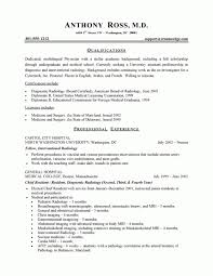 Sample Resume Cv Template Harvard Medical School College