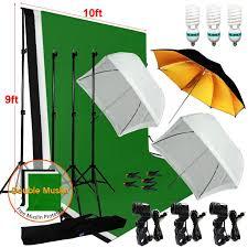 new photography studio lighting 9x10 backdrop stand muslin set photo light kit
