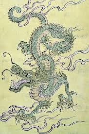 dragon painting a chinese dragon by chinese school