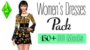 Sims 2 Designer Clothes Downloads The Sims 4 Womens Dresses Pack 150 Cc Mods