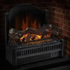 pleasant hearth electric log insert with heater fireback ghp group inc