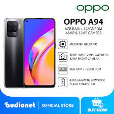 "Oppo A94 Smartphone 8GB RAM + 128GB ROM MediaTek Helio P95 6.43"" FHD +  4310mAh Battery"