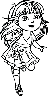 Dora Printables Coloring Coloring Pages Coloring Page Coloring Lots