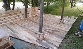 Outdoor deck furniture ideas pallet home Pinterest Decking Crismateccom Decking Made Out Of Pallets Accent Pallet Decking Easy Deck