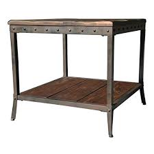 distressed industrial furniture. Rustic Vintage Wooden Metal Side End Sofa Table Country Industrial Antique Distressed Reclaimed Wood Look Couch Coffee Tables Living Room Dining Furniture