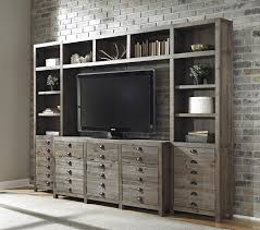 signature design by ashley keeblen rustic gray brown pine tv stand with electric fireplace insert rotmans tv stands worcester boston ma providence