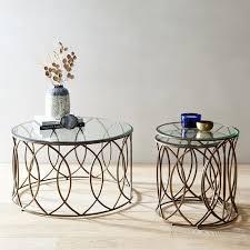 elana bronze iron round nesting tables