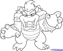Small Picture Download Coloring Pages Bowser Coloring Pages Bowser Coloring