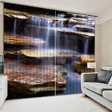 Großhandel Heimtextilien Wasserfall Vorhänge Fenster Dekoration 3d