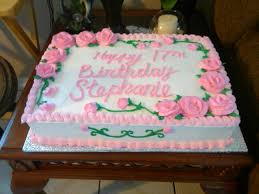 1 2 sheet birthday cake with pink roses