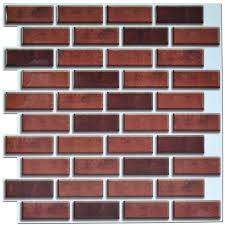 Stick On Backsplash For Kitchen 6 Pack Peel And Stick Brick Backsplash Tiles Kitchen Smart Tiles